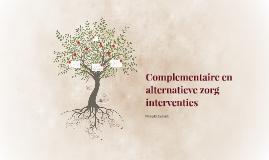 Complementaire en alternatieve zorg interventies