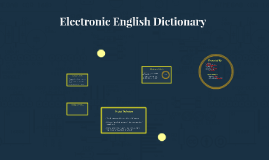 Electronic Englsih Dictionary