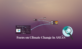 Focus on Climate Change in ASEAN