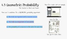 4.3 Geometric Probability