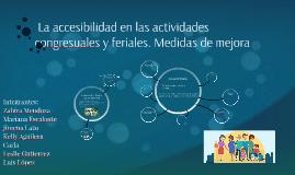 La accesibilidad en las actividades congresuales y feriales