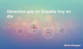 Derechos Gay en España hoy en día