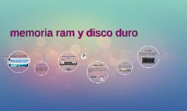 memoria ram y disco duro
