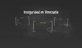 Inseguridad en Venezuela