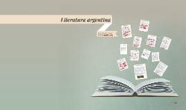 Copy of Literatura argentina