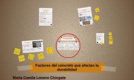 Factores del concreto que afectan la durabilidad