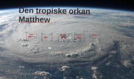 Den tropiske orkan Matthew