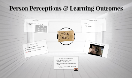 Person Perceptions & Learning Outcomes