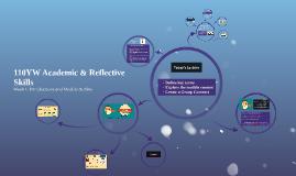2016/17 110YW Academic & Reflective Skills