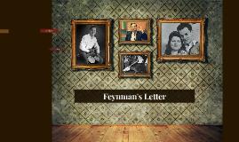 Feynman's Letter