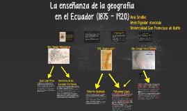 La enseñanza de la geografía
