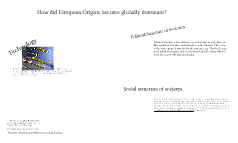 How did nations of European Origin become globally dominant