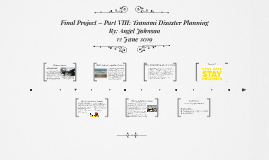 Final Project – Part VIII: Tsunami Disaster Planning