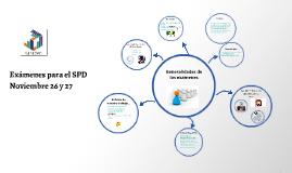 Exámenes para el SPD 26-27 NOVIEMBRE