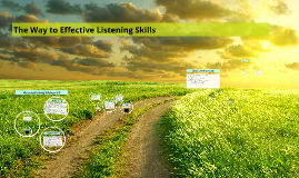 The Way to Effective Listening Skills