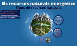 Els recursos energètics