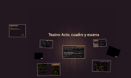 Copy of Teatro: Acto, cuadro y escena