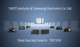 Copy of SWOT analysis of Samsung Electronics C0. Ltd.