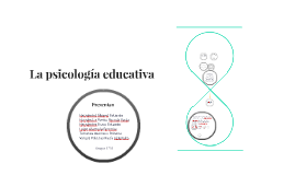 La psicología educativa
