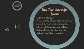 Unit Four: 3/5