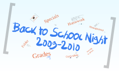 Copy of Back to School 2009-2010