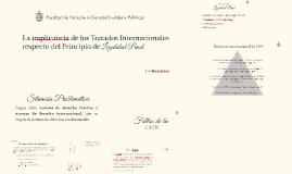 La implicancia de los Tratados Internacionales respecto del