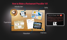 How to Make a Restaurant Possible 101