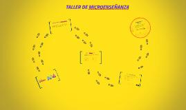 TALLER DE MICROENSEÑANZA