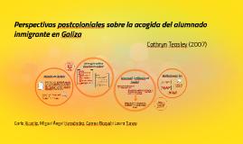 Perspectivas postcoloniales sobre la acogida del alumnado inmigrante en Galiza