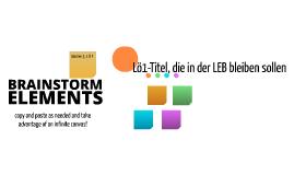 Free Brainstorming Elements by Stephan  Gülck