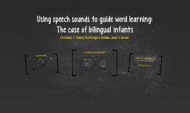 Using speech sounds to guide word learning: