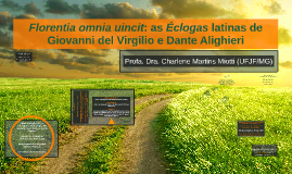 Florentia omnia uincit: as Éclogas latinas de Giovanni del Virgilio e Dante Alighieri