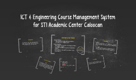 ICT & Engineering Course Management System