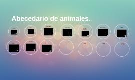 Abecedario de animales.