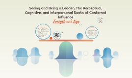 Seeing and Being a Leader: The Perceptual, Cognitive, and In