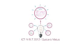ICT IN ELT 2013