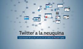Twitter a la neuquina