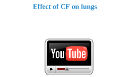 Effect of CF on lungs