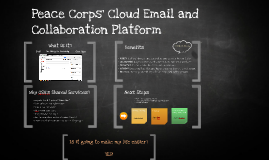 Peace Corps' Cloud Email and Collaboration Platform
