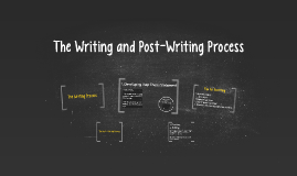 The Writing and Post-Writing Process