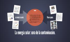 DE LA CELDA SOLAR COMO GENERADOR DE ENERGÍA ELÉCTRICA