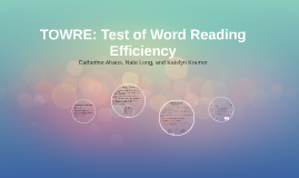 Copy of TOWRE: Test of Word Reading Efficiency