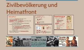 Zivilbevölkerung und Heimatfront während des  1.Weltkriegs