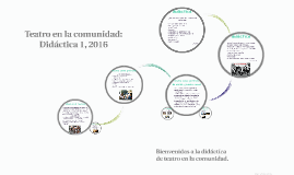 Didáctica 1, 2016: Teatro en la comunidad