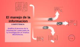 El manejo de la información - curso comunicación y sociedad
