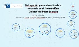 """Deturpación y reconstrucción de la toponimia en el """"Nomenclá"""