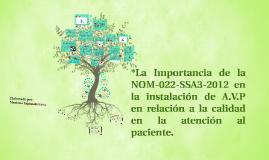 La importancia de la NOM-022-SSA3-2012 en la instalación de