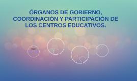 ÓRGANOS DE GOBIERNO, COORDINACIÓN Y PARTICIPACIÓN DE LOS CEN