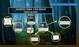 APORTES PARA  UNA MEJOR EDUCACIÓN