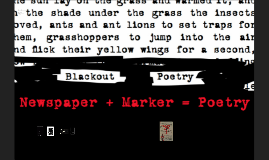 Copy of Copy of Blackout poetry